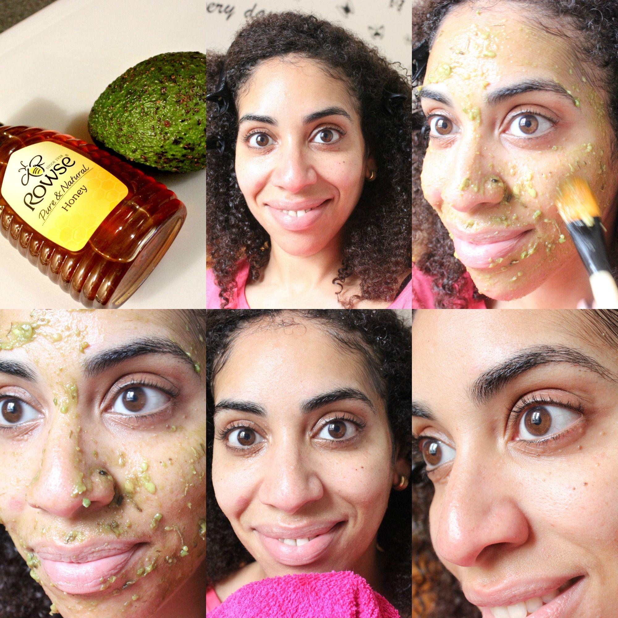 DIY Avocado and honey mask at