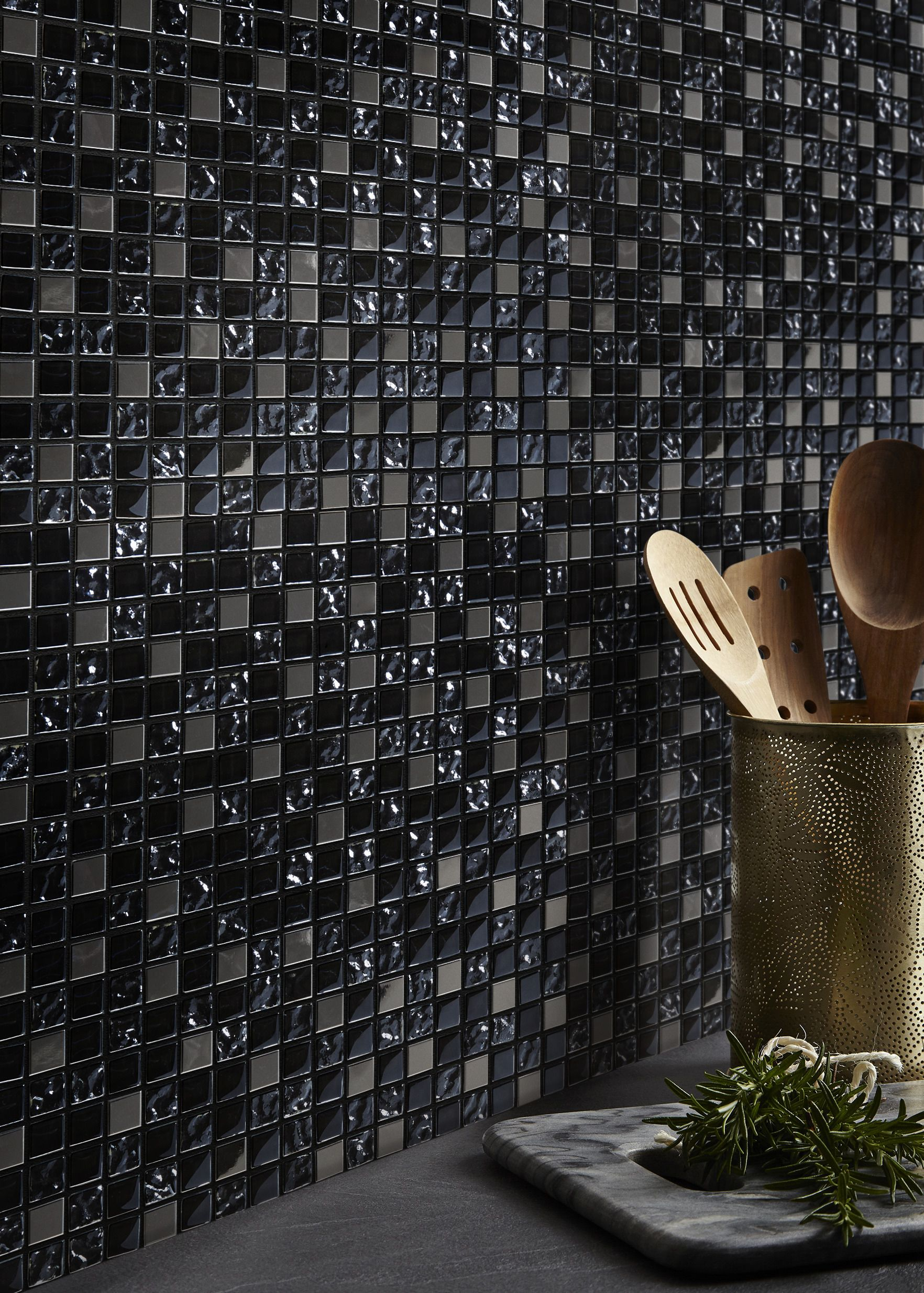 Mozaika Milaino Colours 30 X 30 Cm Black Plytki Scienne Colours Decor Black