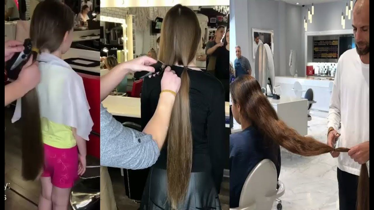 Extreme Hair Makeover Long To Short Long Hair Cutting Videos For