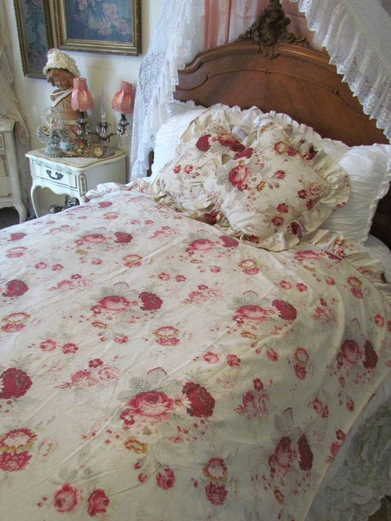Pin On Norfolk Vintage Rose Fabric By Waverly