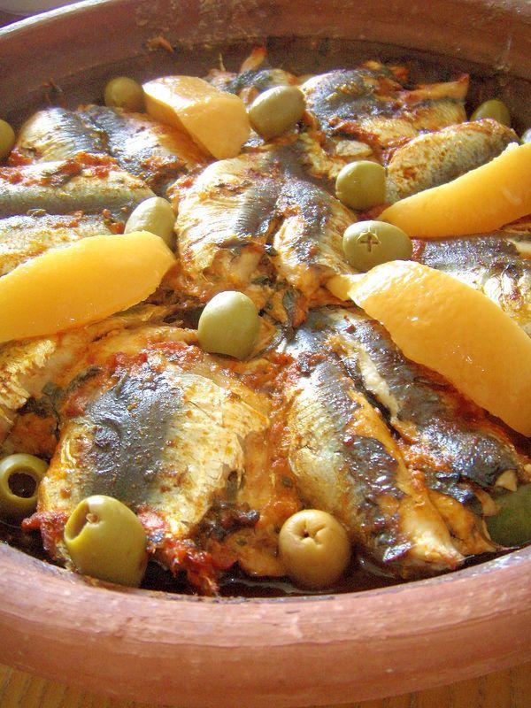 Tajine de sardines et pomme de terre maroc kiff - Cuisine tunisienne tajine ...