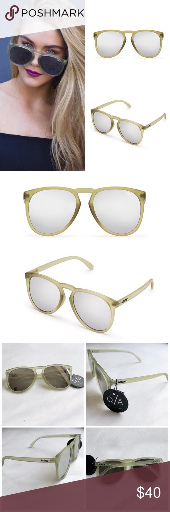 8288ac0754 Quay Australia PhD Sunglasses Quay Australia PhD Sunglasses in olive green  with silver mirror lenses.