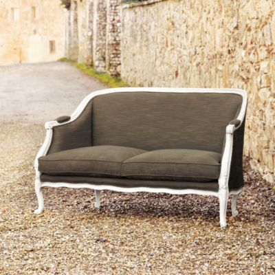 Bergamo upholstered settee, available at ballarddesigns.com