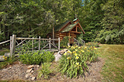 Creekside Cove Chapel Is Nestled In A Hemlock And Laurel Rich Hollow Your Perfect Gatlinburg Wedding Will Be Held By Candlelight On Our Primitive Bridge