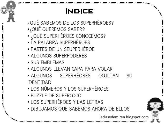 Proyecto de los superhéroes original | Educación | Pinterest