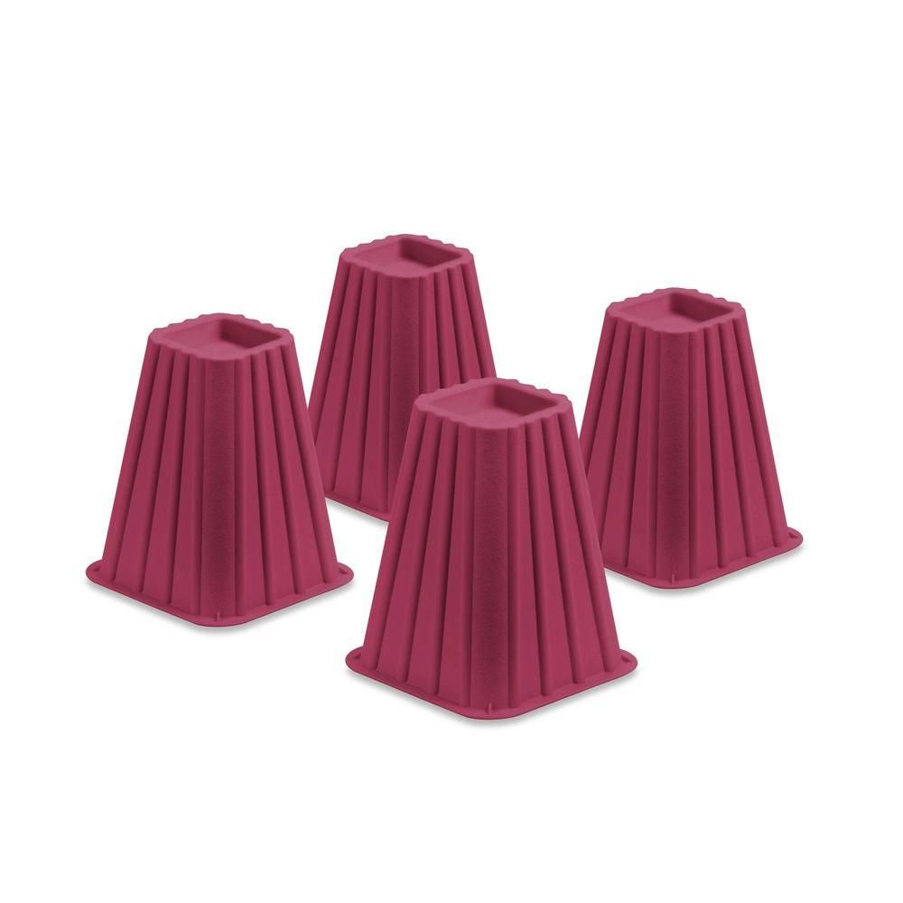 Honey Can Do Pink Plastic Bed Risers Set Of 4 Sto 01877 Bed