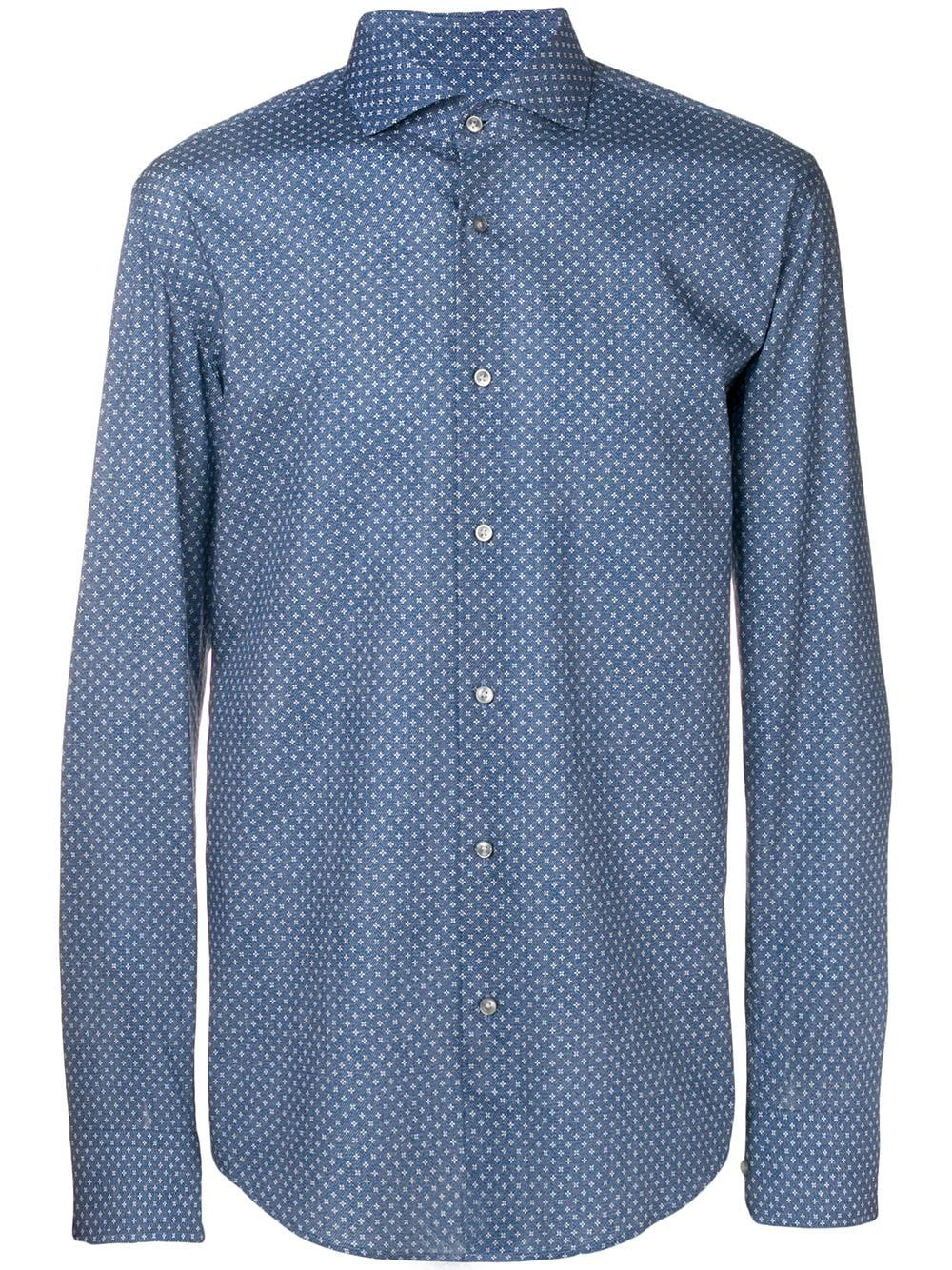 be156663 BOSS HUGO BOSS BOSS HUGO BOSS PRINTED SHIRT - BLUE. #bosshugoboss #cloth