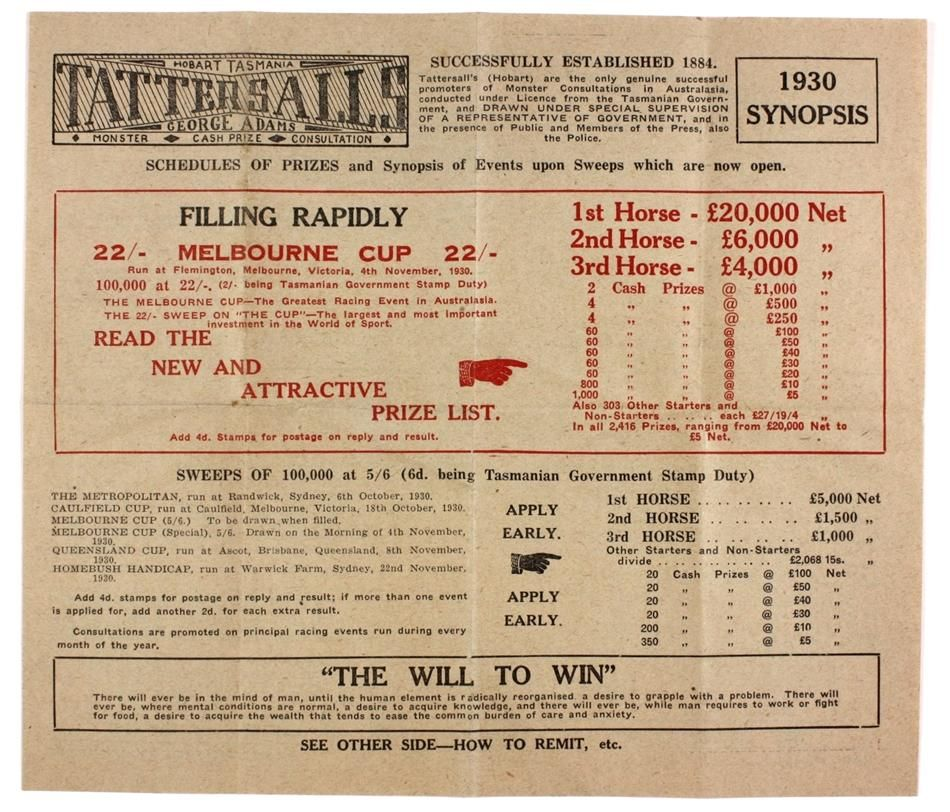 Melbourne cup betting slip images l artista del betting tips
