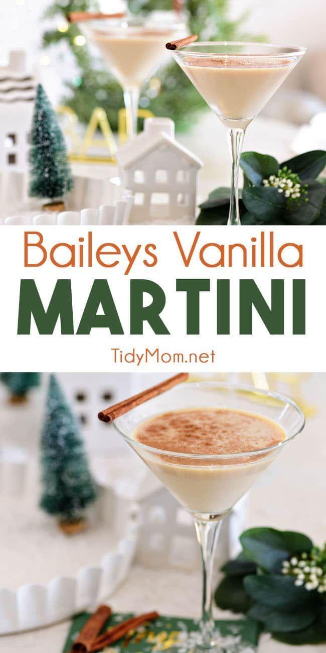 Baileys Martini with a Vanilla Twist