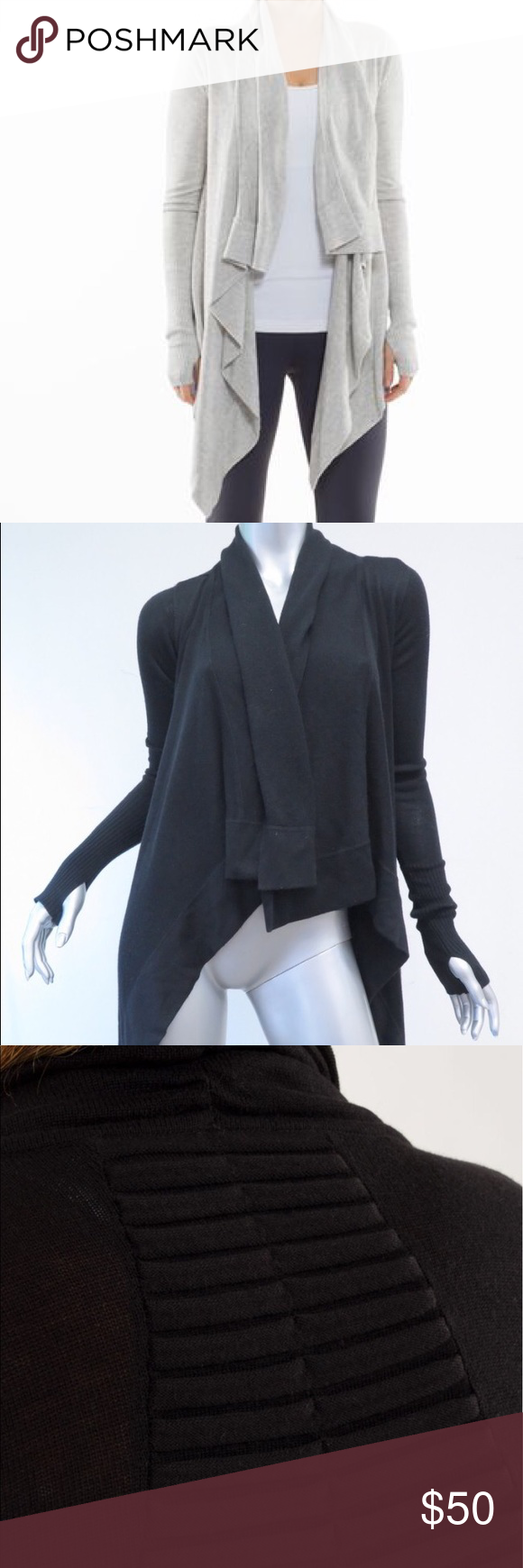 Lululemon Live Healthy Cardigan Wrap BLACK Excellent condition, black color, will post photos of the actual item shortly. lululemon athletica Jackets & Coats