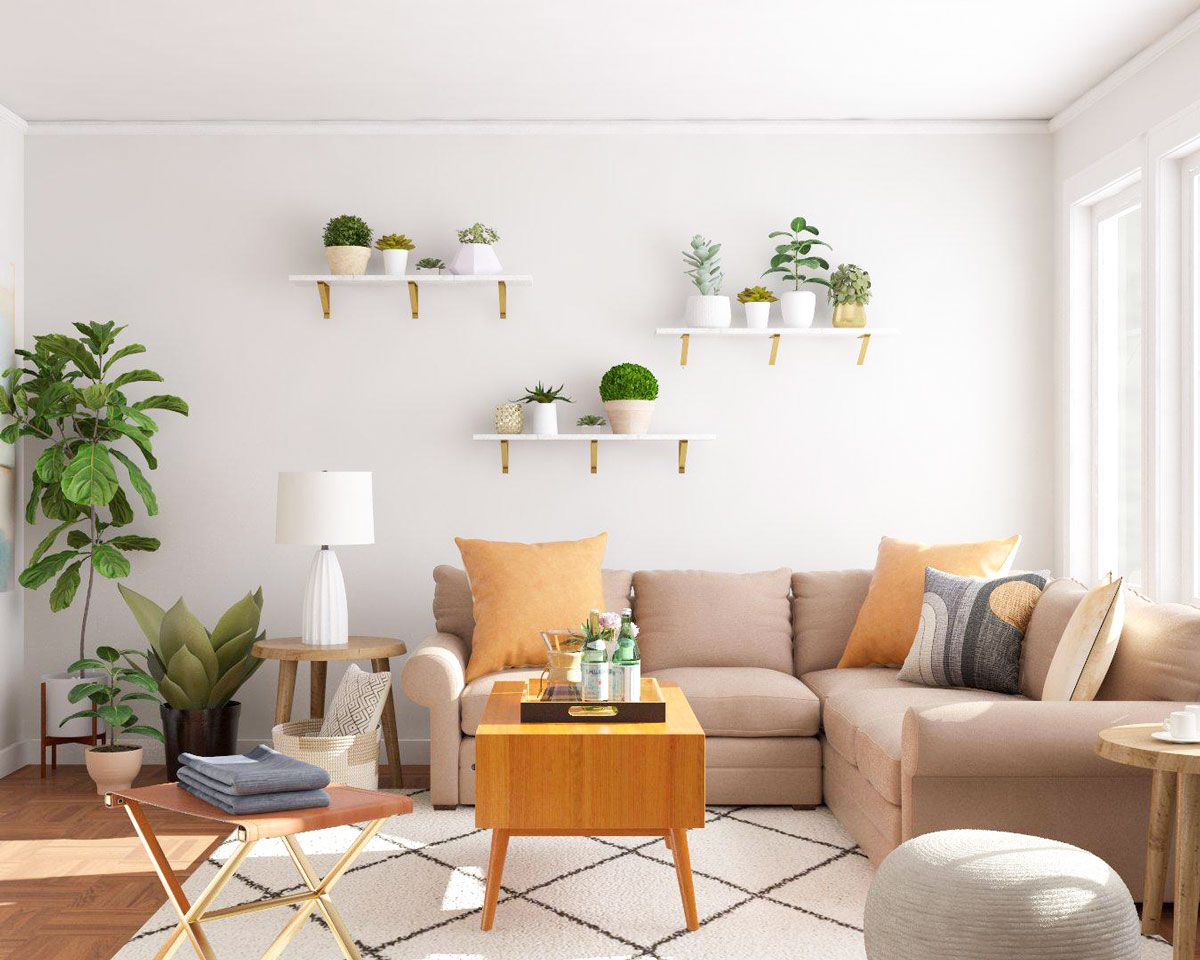 5 Simple Ways To Decorate With Plants Modsy Blog Simple Living Room Decor Simple Room Simple Apartment Decor