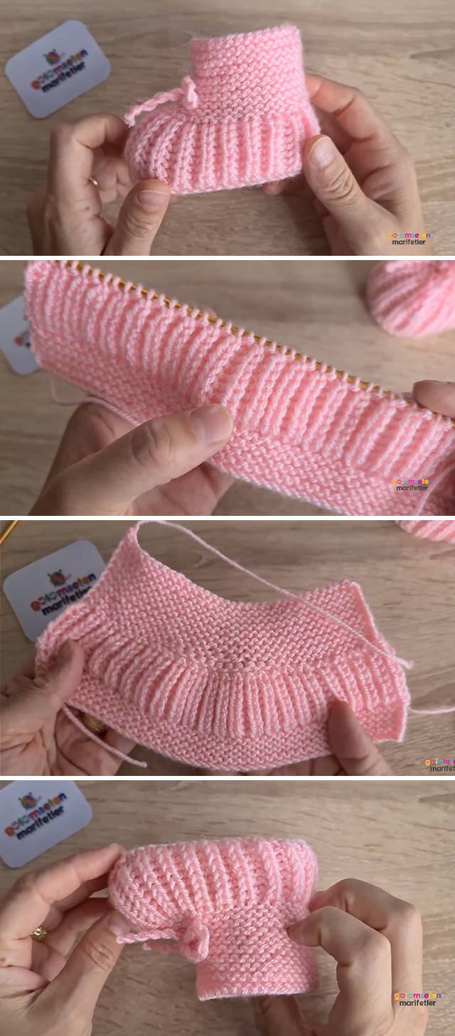 Baby Knit Shoes You Can Make Easily