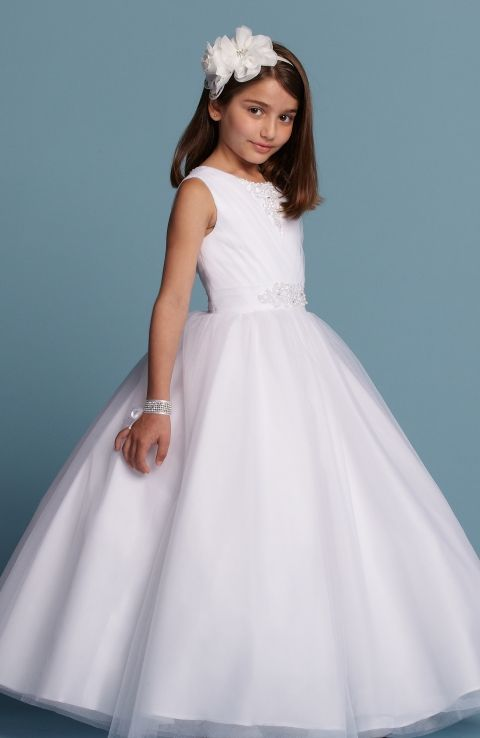 Romantic Bridal Flower Girl Style 1738 *Available at http://www.tie-the-knot-bridal.com/ Green Bay, WI.  Call us at 920-662-1920 to schedule an appointment.