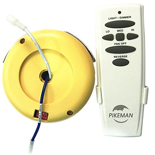 Pikeman Ceiling Fan Remote Control And Receiver Complete Kit Replace Hampton Bay Uc7078t Chq7 Ceiling Fan With Remote Ceiling Fan Remote Controls Ceiling Fan