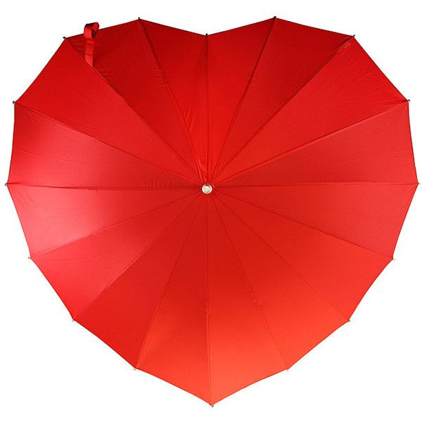 Crimson Heart Umbrella | heart shaped umbrella, rain gear |... (€35) ❤ liked on Polyvore featuring accessories, umbrellas, heart shaped umbrella and heart umbrella