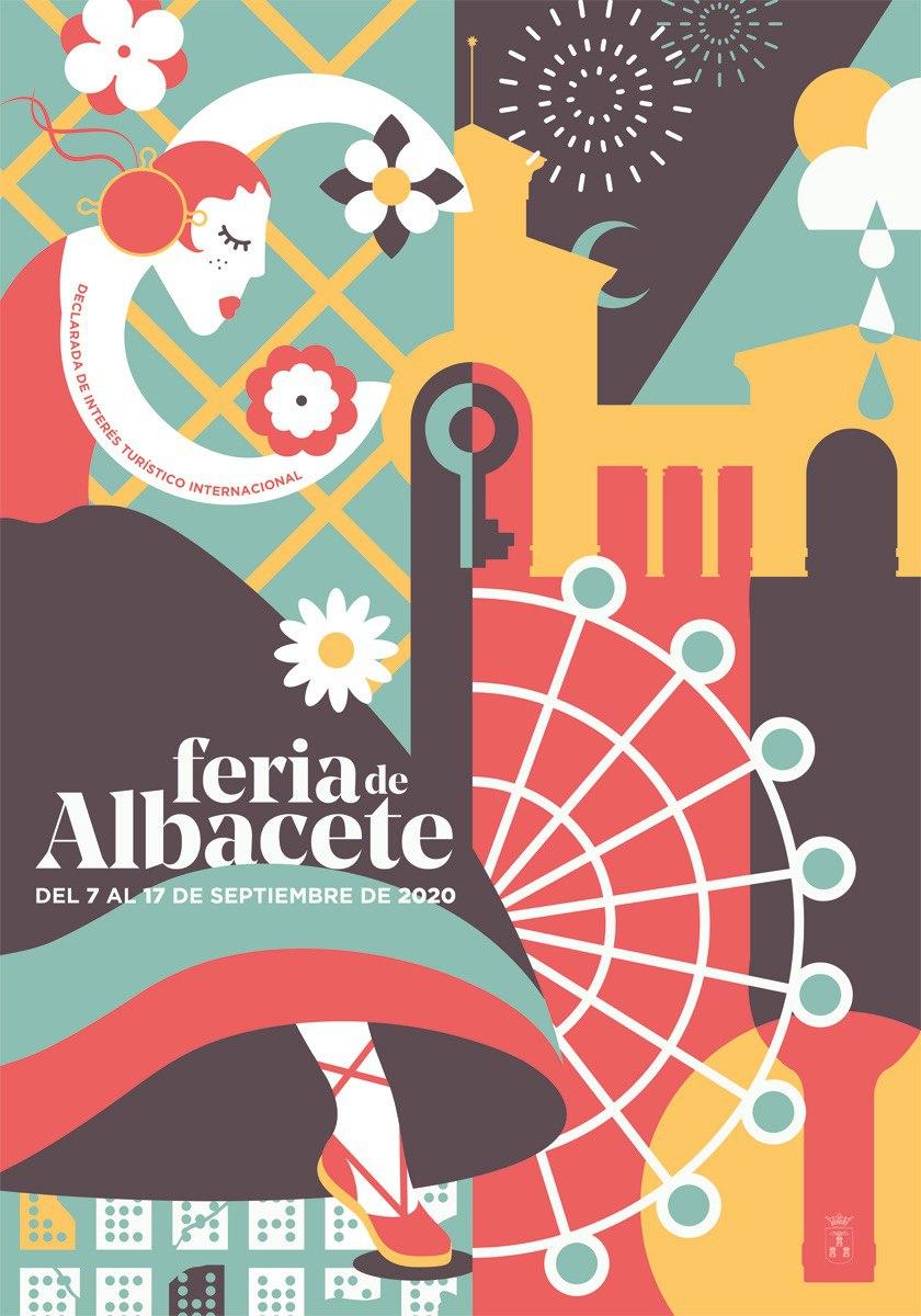 Cartel Feria Albacete 2020 Titulo Flores A Nuestra Feria Autora Celia Navalón Palomar Concurso De Carteles Feria Diseño De Cartel