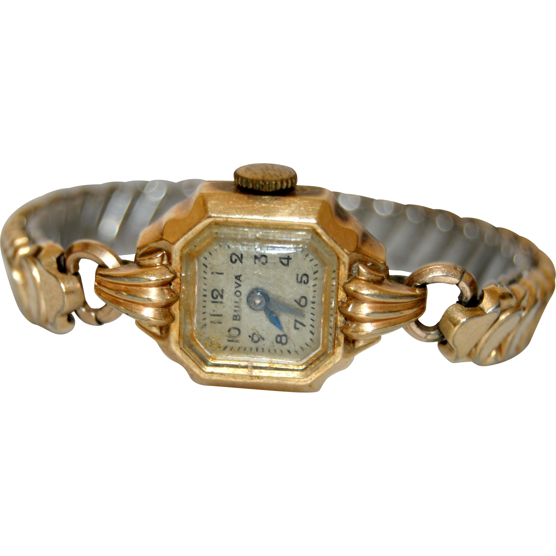 Vintage Bulova Watch 10k Gold Filled 1960s Ladies Bracelet Cocktail Wristwatch Vintage Bulova Watches Womens Bracelets Bulova Watches