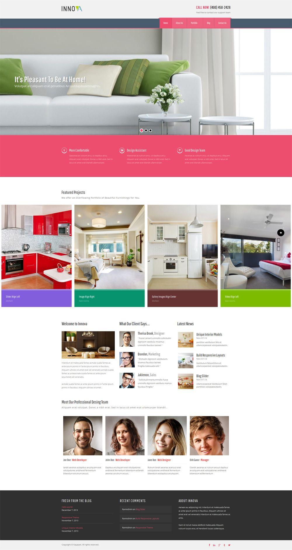 Innova - Interior & Funiture WordPress CMS Theme | Wordpress