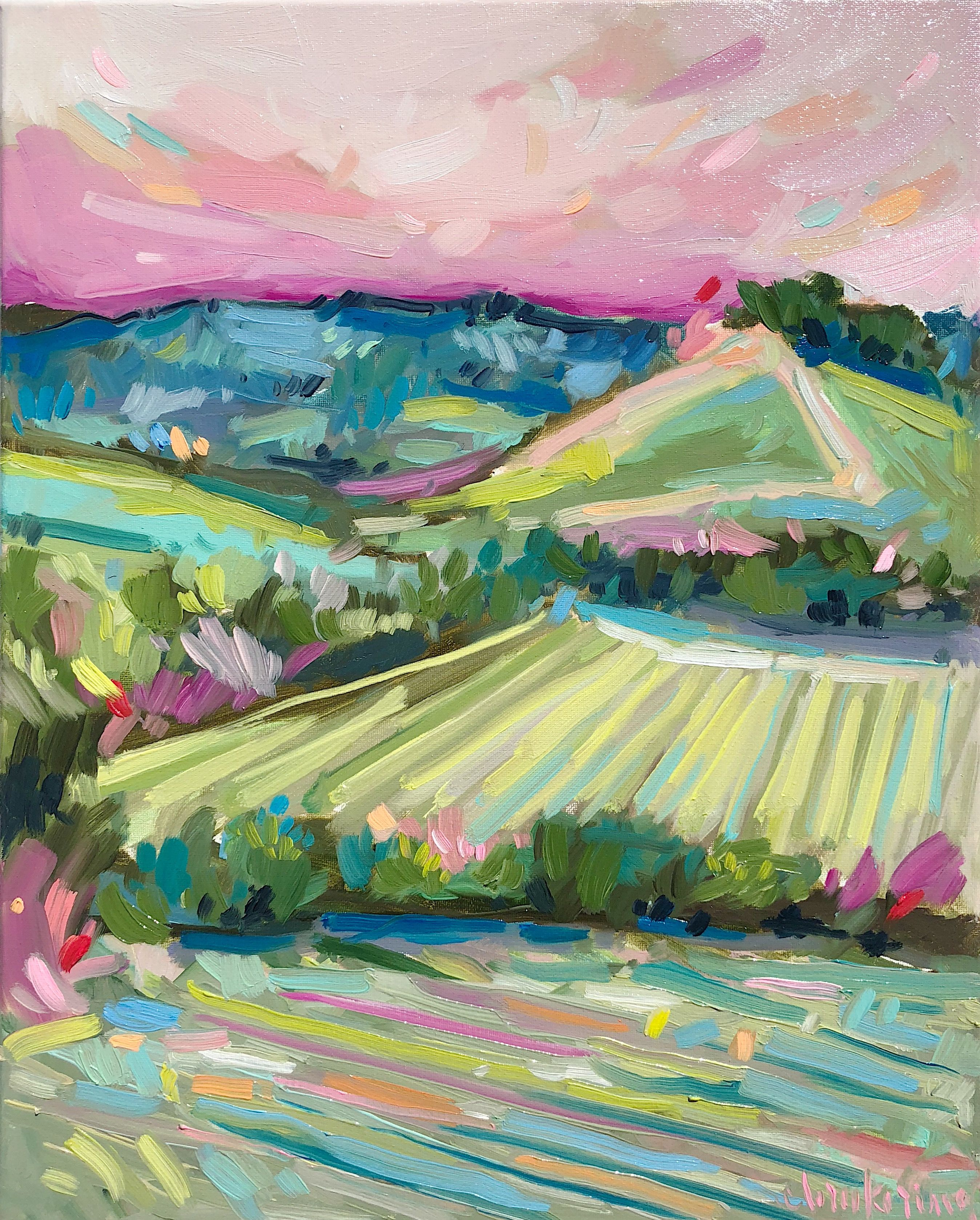 Ciao Bella C Brooke Ring Landscape Painting Italian Countryside Tuscany Painting Col Countryside Paintings Abstract Art Landscape Canvas Painting Diy