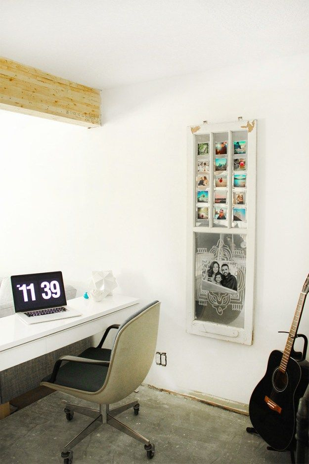 DIY Mirror and Photo Frame from an Old Window | Diy mirror, Spray ...