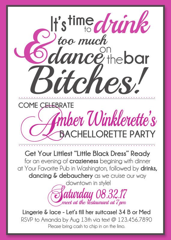 Dance on the Bar Bachelorette Party Save The Dates or Invitations ...