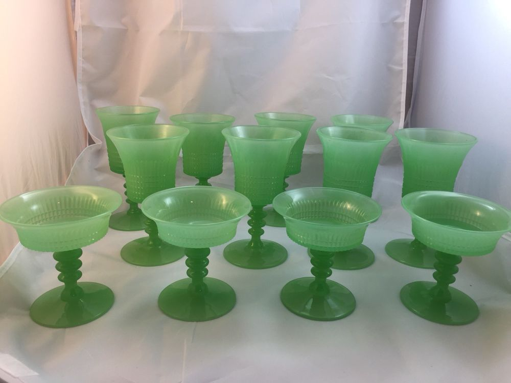 Fenton Lincoln Inn Jadeite Green Elegant 1928 Rare Depression Fire King & Fenton Lincoln Inn Jadeite Green Elegant 1928 Rare Depression Fire ...