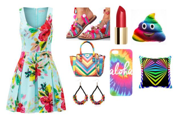 """""""Color Fest"""" by happy-geek7 ❤ liked on Polyvore featuring Trina Turk and colorful"""