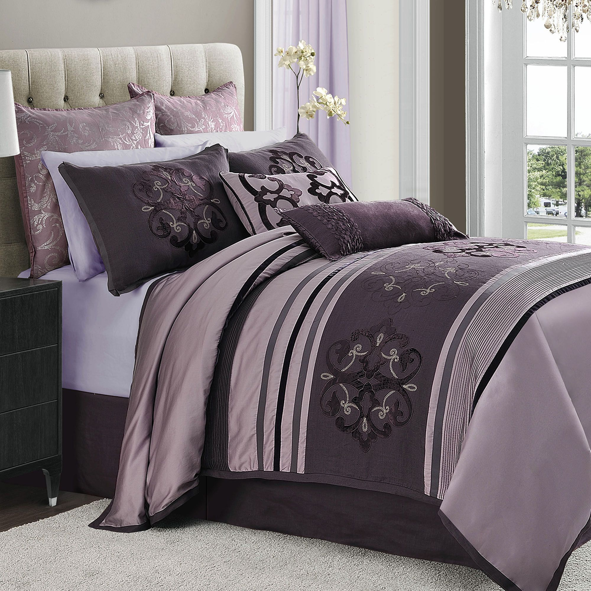 Bedroom Ideas Plum jolie comforter set lilac | plum comforter, comforter and plum bedding