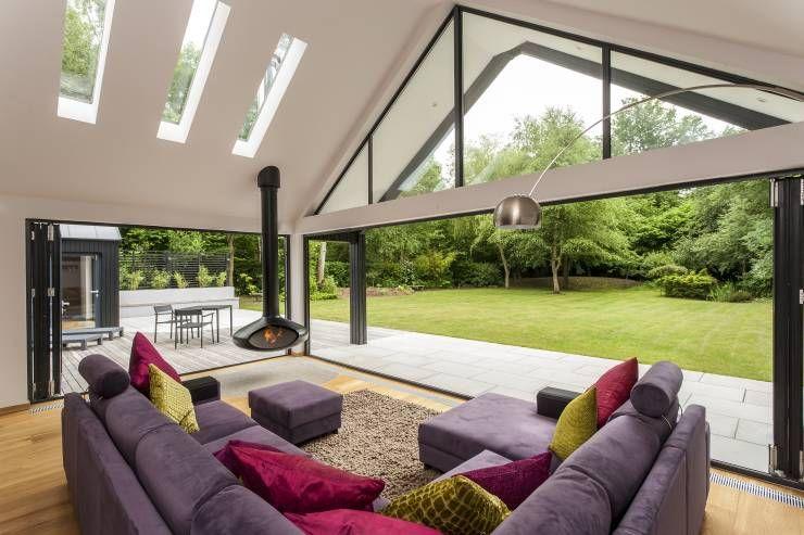 Wohnzimmer fenster ~ Panoramafenster sensationelle beispiele moderne wohnzimmer