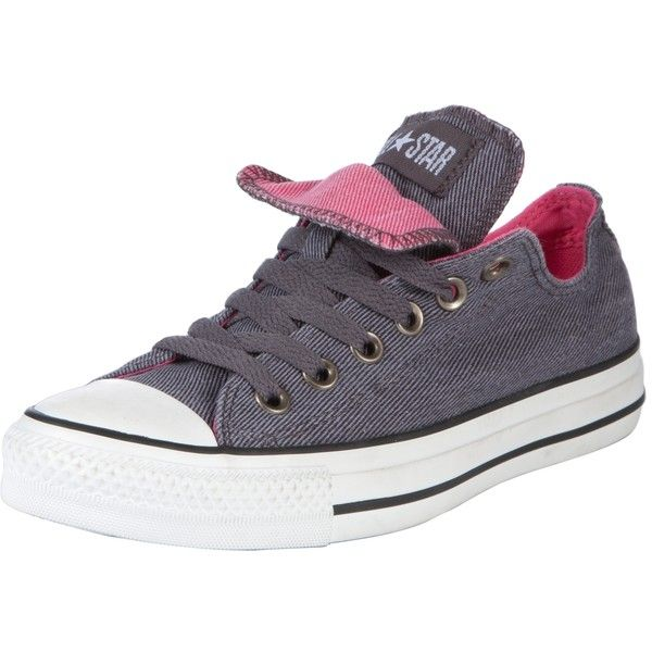 Converse Chuck Taylor All Star Low Top Double Tongue Trainers,... ❤ liked on Polyvore