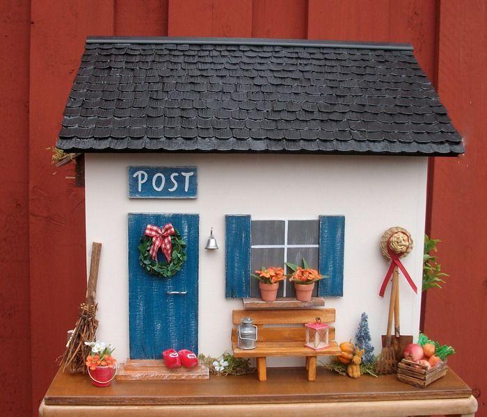 Briefkasten aus Holz - 4 Jahreszeiten, Bestellart. von Pascalou auf DaWanda.com