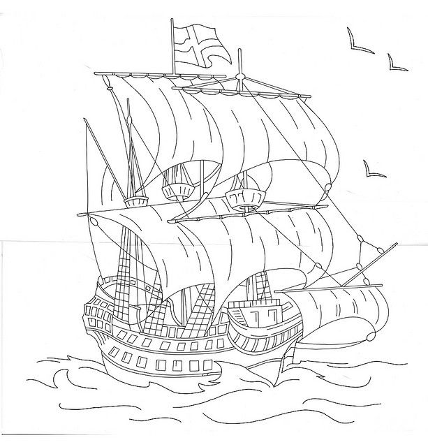 ship1 copy | Embroidery Nautical & Beach | Pinterest | Bordado ...