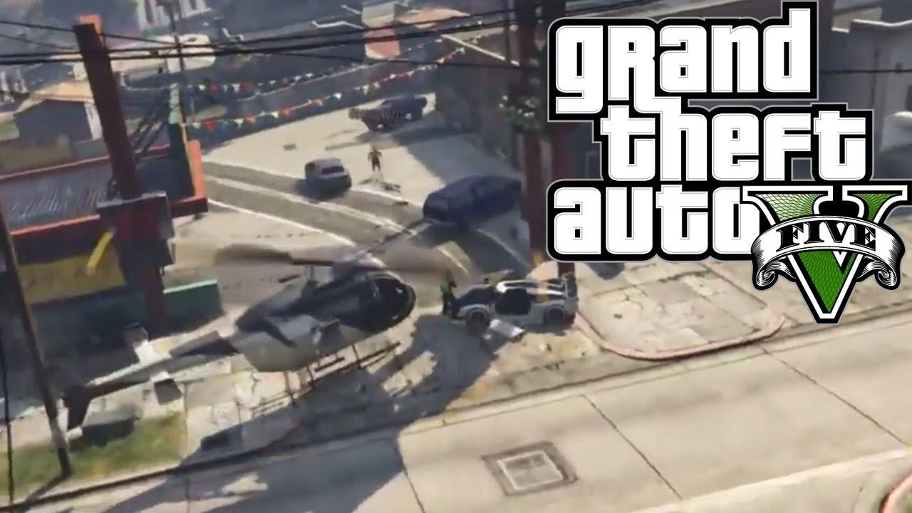 Helicopter Dive Bombs Gta 5 Online Gameplay Ps4 Gta 5 Gta