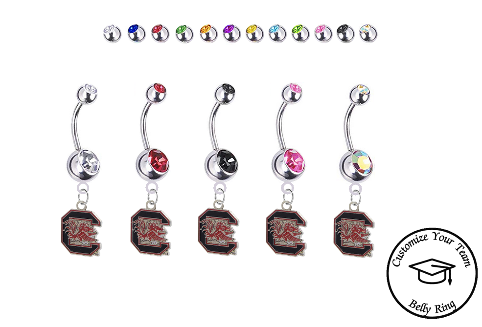 Pick Your Color BRAND NEW Wyoming Cowboys College Belly Navel Ring