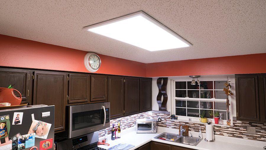 Lighting Concepts With Led Panels Led Panel Kitchen Lighting Led