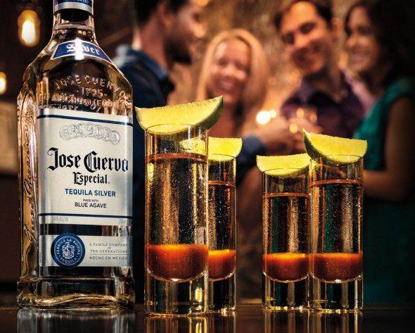 Diablo shots- 1oz de tequila premium jose cuervo tradicional silver ...