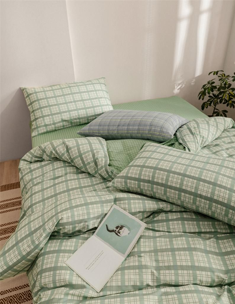 Roostery Green Duvet Cover And White Herringbone Emerald Pantone By Gates And Gables 100 Cotton Twin Duvet Cover