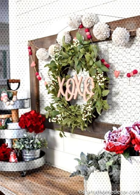 DIY Valentine's Day Entry Way - Start at Home Decor DIY Valentine's Day Entry Way | Start at Home D