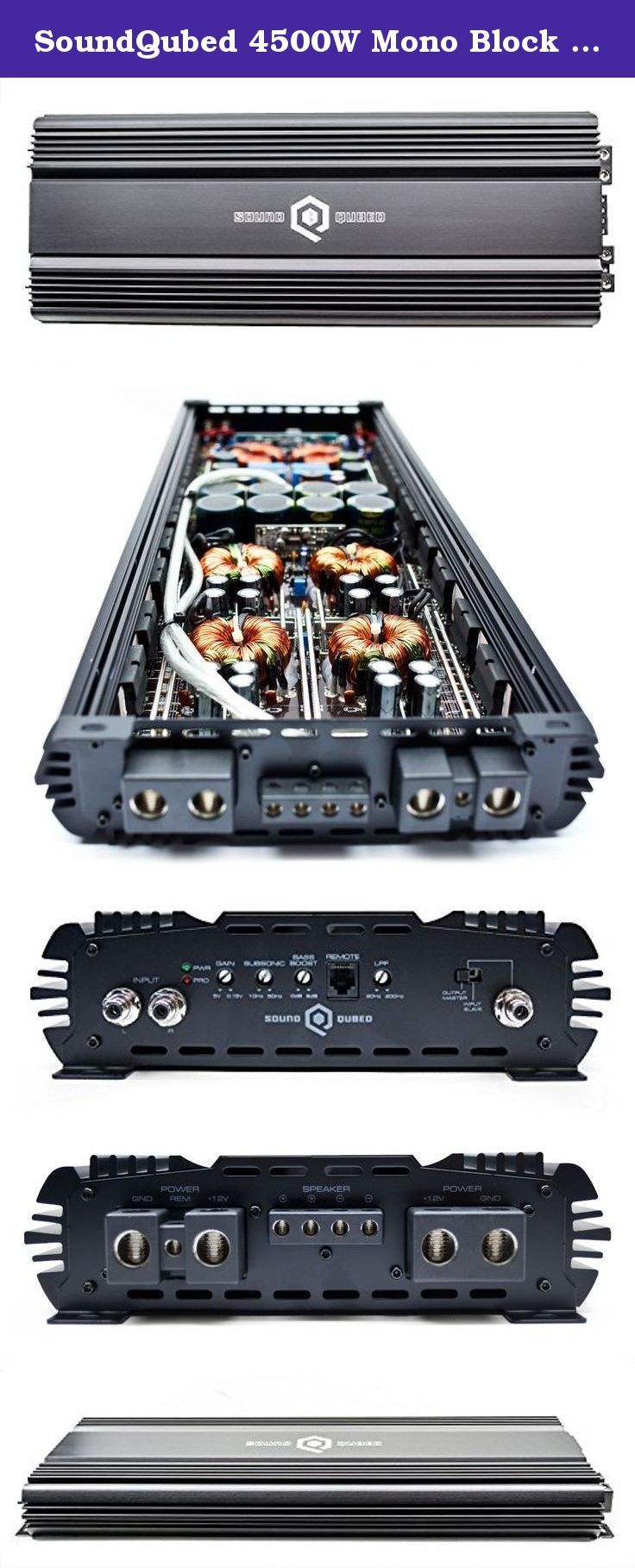 monoblock amp with 2 speaker terminals