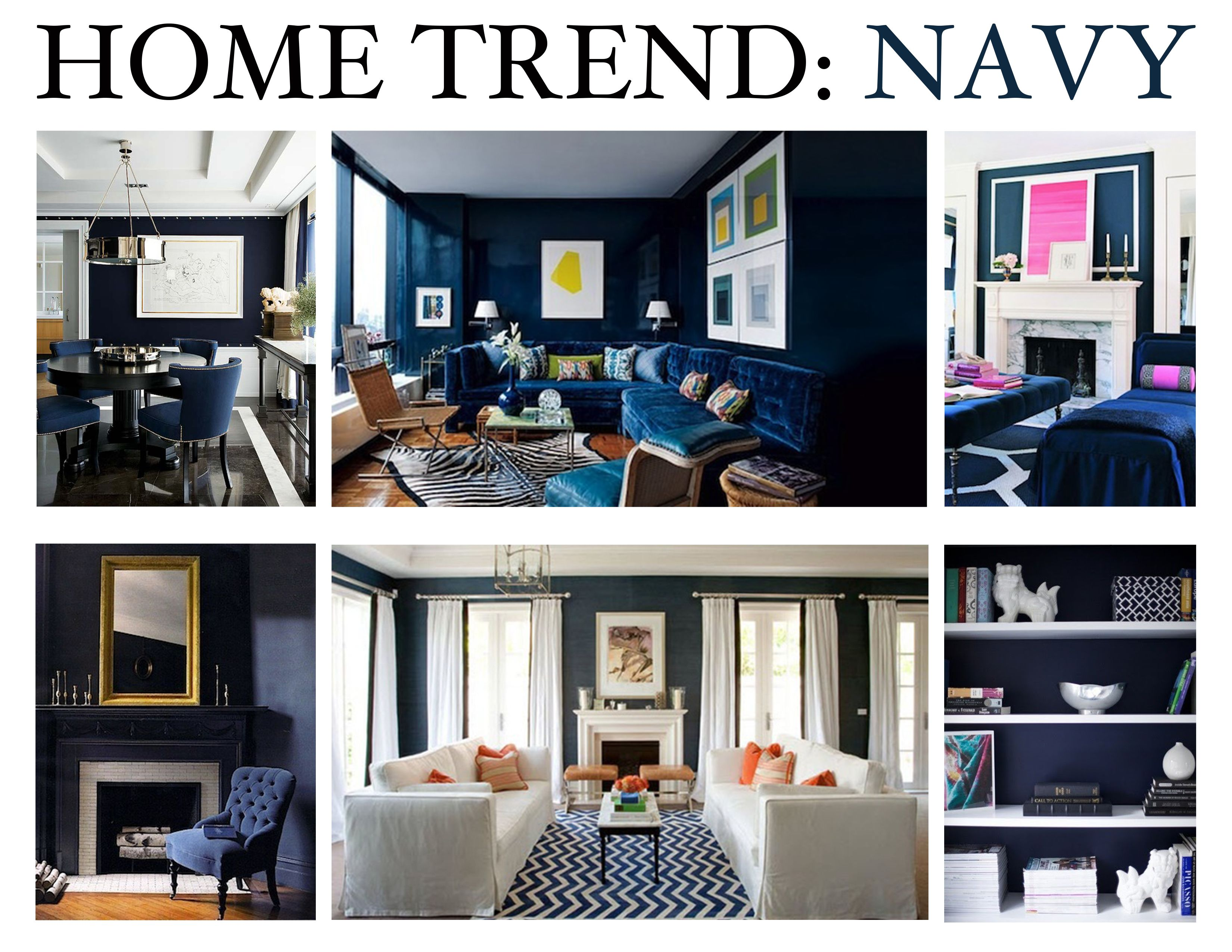 Ordinaire Home Trend : Navy Featuring #benjaminmoore Bold Blue 2064 10