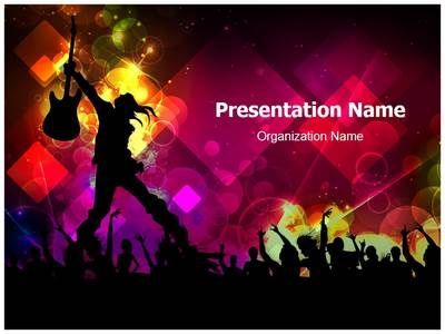 Rock Concert Abstract Powerpoint Template Is One Of The Best