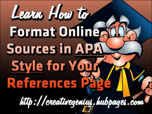 citing online sources in apa style for your references page 6th