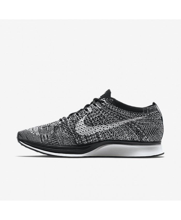Nike Flyknit Racer Black White Unisex Shoes Trainers Outlet
