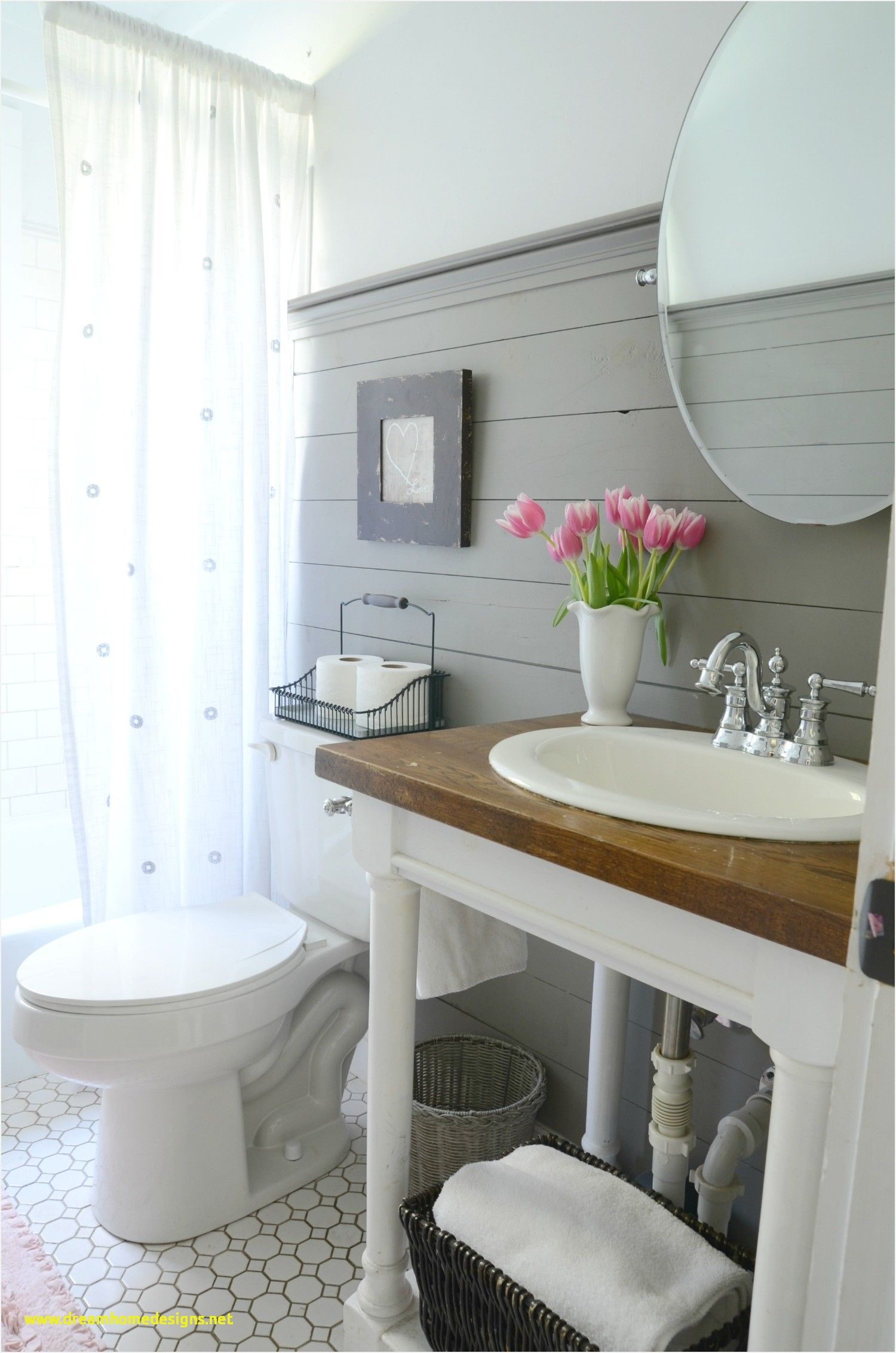Half Bath Makeover House By The Bay Small Bathroom Makeover Bath Makeover Bathroom Makeover