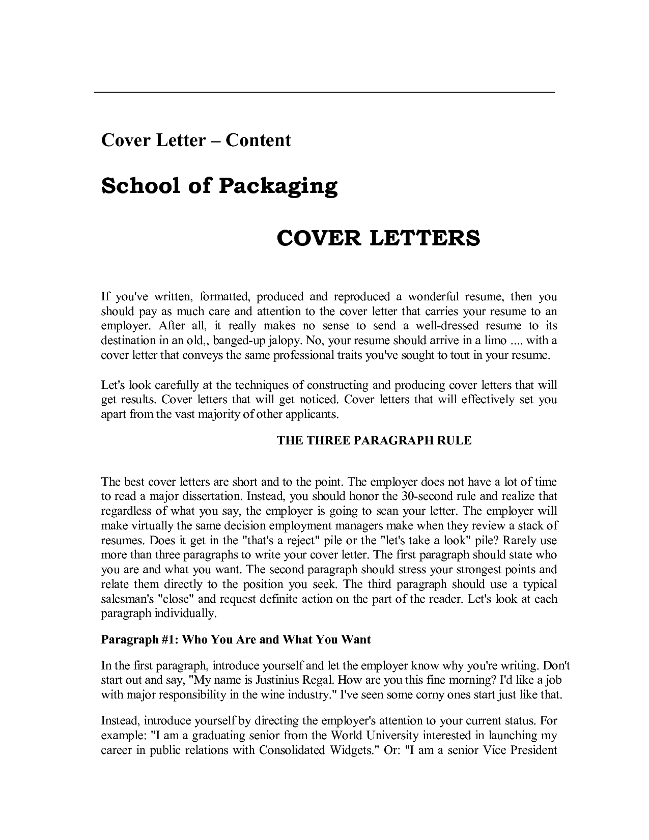 resume cover letter pdf - Free Sample Cover Letter For Resume