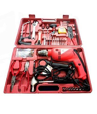 Agni Powerful 13 mm Impact Drill Machine Kit with Reversible Function 500W 2600/2800 RPM+ 105 Accessories