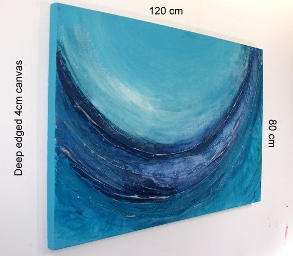XL Seascape Art Original Wave Artwork by by AffordableArtGallery