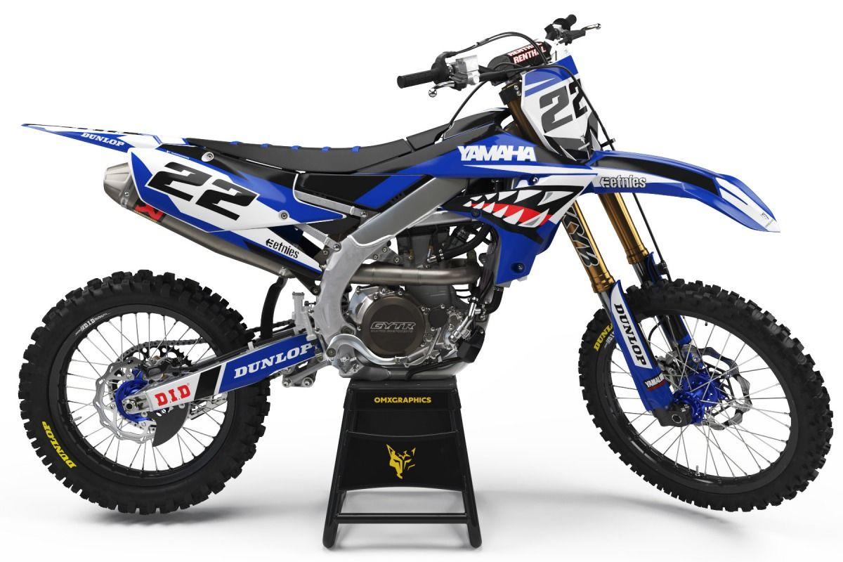 Yamaha Mx Decals Prime Black Omxgraphics In 2020 Yamaha Dirt Bikes Yamaha Dirt Bike