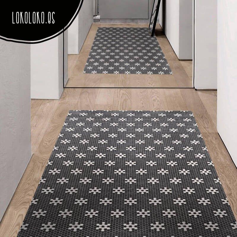Suelo de mosaico de estrellas blancas suelos de cocina - Vinilos suelo cocina ...