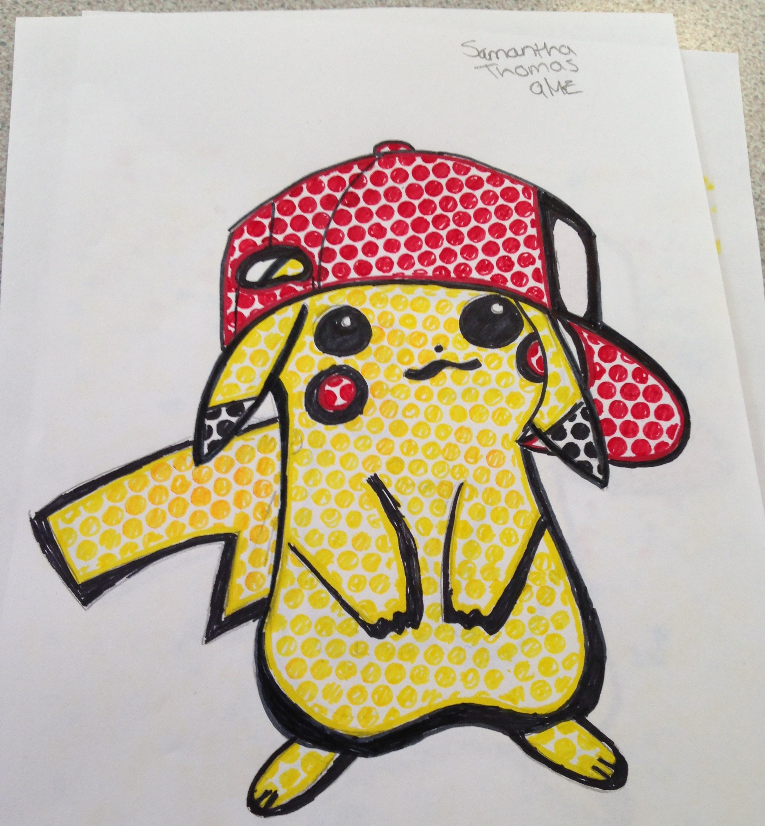 My attempt of drawing pikachu